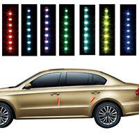 Solar Car Door Edge Guard Anti-collision Anti-static LED Strobe Warning Light TS