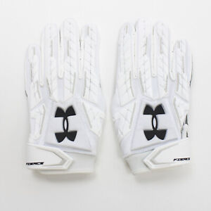 Under Armour Gloves - Receiver Men's White New with Tags