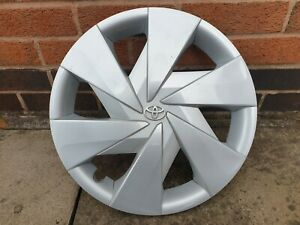 "Single Toyota Aygo 15"" Wheel Trim Hub Cap x1 Genuine Used Part"