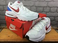 NIKE MENS UK 9 EUR 44 NIKE AIR MAX FUSION WHITE BLUE RED TRAINERS RRP £88 M
