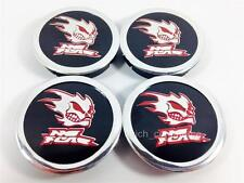 NO FEAR Wheel Center Hub Caps 60mm/55mm UNIVERSAL for Alloy Wheels Set of 4