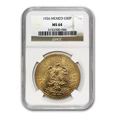 New listing 1926 Mexico Gold 50 Pesos Ms-64 Ngc - Sku#66630