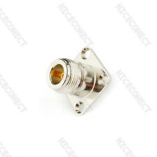 SMA female to N type female 4 hole flange Panel Mount RF adapter connector