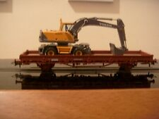 More details for roco ho (swiss) stake wagon with wheeled digger (wagon brand new cased).