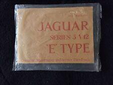 Jaguar E Type XKE Series III V12 Owners Manual Handbook NEW USA Spec
