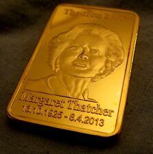 Margaret Thatcher 24Kt GOLD BAR Premier ministre du Royaume-Uni Londres Royal UK