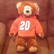 "NWT 28"" Large JOEY LOGANO NASCAR HOODIE BEAR PLUSH #20 JOE GIBBS HOME DEPOT NEW"