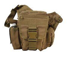 Lightweight MOLLE Advanced Tactical Travel Shoulder Bag Bug Out Pack Coyote