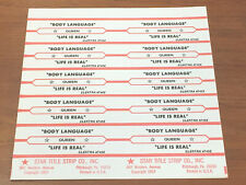 Queen Body Language Life is Real Jukebox Title Strip Full Sheet