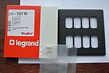 Legrand 7317 83 Placa de cuadrícula de sinergia Gang 4 8 Negro Mate separados aperturas Mod