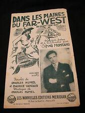 Partition Dans les plaines du far west Music Sheet Yves Montand