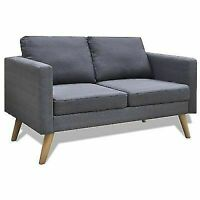 Daonanba vidaXL Fabric Sofa - Dark Grey