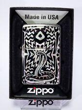 "Zippo "" Snake "" Mother of Pearl Design - Edel - New & OVP - 1128"