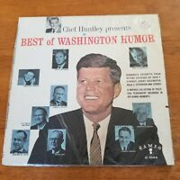 "MONO COMEDY LP - CAMEO 1044 - ""CHET HUNTLEY PRESENTS BEST OF WASHINGTON HUMOR"""