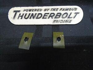 1960 MERCURY 300S 35HP THUNDERBOLT BADGE PLATE 38-27720 MARK 35 OUTBOARD MOTOR