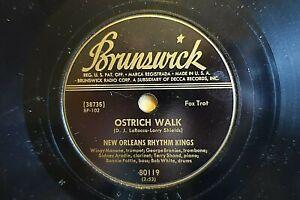 NEW ORLEANS RHYTHM KINGS 78 OSTRICH WALK / ORIGINAL DIXIELAND 1-STEP Br 80119 E-