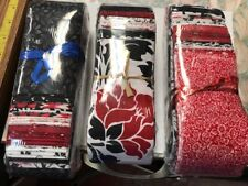 40 Piece Assorted Jelly Roll Black, Red, White