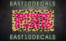 PINK Victoria Secret license plate tag girly trendy cute cheetah decal rare VS