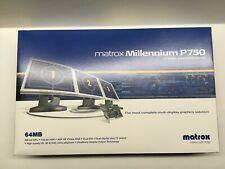 NEW (1) MATROX MILLENIUM P750, 64MB, MULTI-DISPLAY VIDEO GRAPHICS CARD