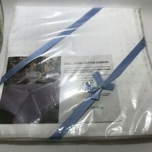 Sferra Bros. Ltd. Set 4 Dinner Napkins 22X22 100% Cotton Damask Classic Squares