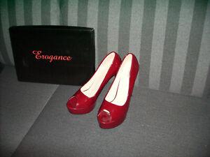 high heels gr. 46 Weinrot Lack