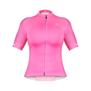 ZOL CYCLING BREATHABLE RACE FIT JERSEY NEON PINK (WOMEN)