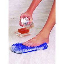 Body & Sole Soapy Soles Foot Scrubber & Massager (Pearl Blue) -- Foot-shaped Pad