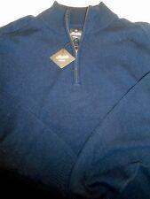 Bonobos Maide Wool Cashmere Blend Quarter Zip Sweater NWT XL $178 Navy Blue