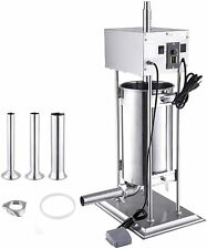 10l Commercial Electric Sausage Stuffing Machine Meat Filler Stuffer 110v 260w