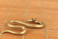 chinese old bronze hand  snake statue figure collectable netsuke decoration gift