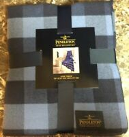 Pendleton Home Collection Luxe Throw Blanket 50 X 70 New Rob Roy Blue