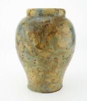 Jugendstil Keramik Vase mit mehrschichtiger Laufglasur Balustervase mehrfarbig 2