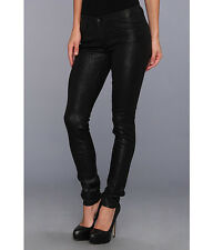 NEW~  JUICY COUTURE~Womens Black Crackle Foil Skinny Jeans~ MADE IN USA~ Size 30