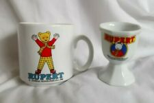 RUPERT THE BEAR VINTAGE MUG AND EGGCUP 80's RETRO COLLECTABLE VGC