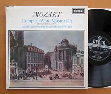 SXL 6049 ED1 Mozart Complete Wind Music Vol. 3 Jack Brymer NM/EX Decca WB Grvd
