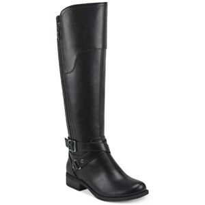 G by Guess Haydin Women Knee High Riding Boots Size US 5.5M Black Faux Leather