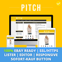 PITCH YELLOW eBay Template 2019 Responsive Ebayvorlage Auktionsvorlage SSL/HTTPS