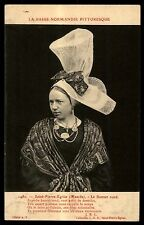 Antique Saint Pierre fasion Le Bonnet rond old hat France extreme postcard