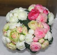 Artificielle Rose Fleurs en Soie Bouquet de Mariée Accueil Mariage Vase Décor