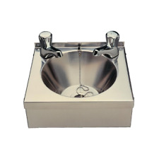 Vogue Mini Wash Basin Stainless Steel Sink Pedestal 125x305x268mm With Taps P090