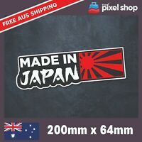Made in JAPAN JDM Rising Sun Windshield Window Car Decal Vinyl Sticker Nippon