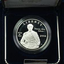 2004-P Thomas Alva Edison Proof Silver Dollar $1 Commemorative Coin US Mint