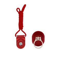 Reino Unido Apagado Blanco Amarillo Industrial Llavero Cinturón Correa cordón para soporte para teléfono