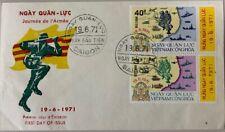 1961 Vietnam #394-395 Saigon First Day Cover, Army Day *a