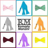 Romario Manzini® Men's Self Tie Bow Tie (29 Colors)