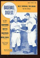 May 1947 Baseball Digest With Hank Greenberg Cover EX