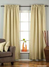 Olive Green Rod Pocket Matka Raw Silk Curtain / Drape / Panel - Piece