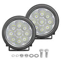 "2x 3""Inch Round LED Work Light Bar Flood Beam Off road Driving Fog Lamp 4WD Boat"