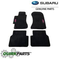 2002-07 Subaru Impreza WRX STI Custom Carpet Floor Mats Black OEM NEW SCI440B202