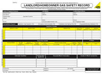 ENGINEER GAS SAFETY CHECK INSPECTION LANDLORD HOMEOWNER RECORD PAD 50 SET BOOK